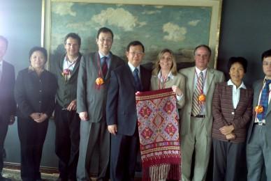 Visita de Comisión de la provincia de Guanxi relacionada con el tema de agricultura y temas ambientales.