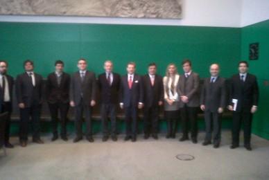 Con el vicepresidente de la Cámara de Diputados
