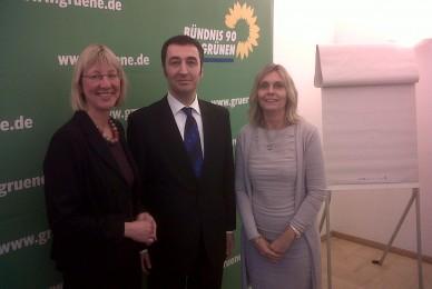 Con dirigentes del Partido Verde