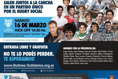 Primer Partido de Famosos por el Rugby Social en Argentina!