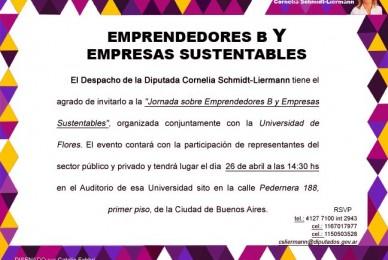 Este viernes los esperamos en la jornada sobre emprendedorismo y sustentabilidad a las 14.30 hs en la Universidad de Flores, Pedernera 188.