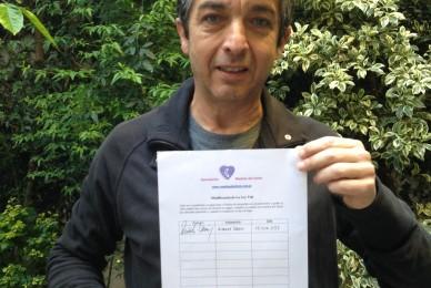 Ricardo Darin firmó nuestro petitorio para cambiar la Ley Vial.