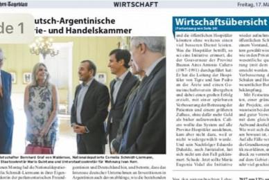 Argentinisches Tageblatt 17/03/2017 Argentina y Alemania, más cerca que nunca