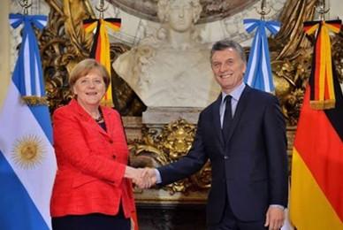 Angela Merkel en Buenos Aires