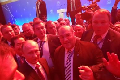 NCN 17/10/2017 Legisladores argentinos tuvieron un encuentro con Putin en la Asamblea de la IUP