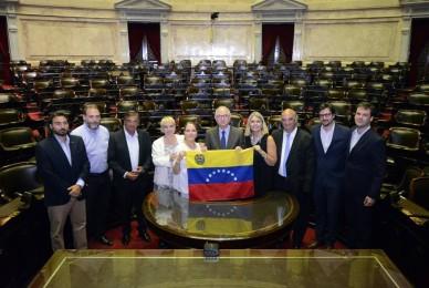 Con el ex alcalde de Caracas, Antonio Ledezma