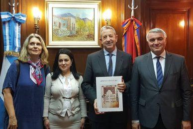 Encuentro con el vicecanciller de Armenia