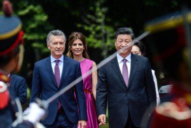 Con los presidentes Macri y Xi Jinping en Olivos