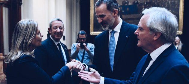 Con el rey de España