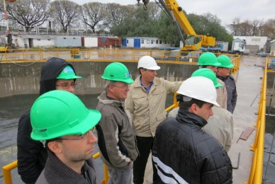Visita del VDI (Centro de Ingenieros Alemanes) a la obra del entubamiento del Maldonado