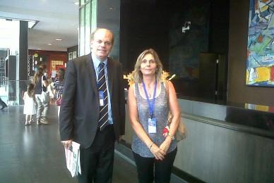 Con el senador Patricio Walker