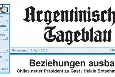"""Argentinisches Tageblatt 21/05/2021 """"Mercosur no debe ser un corset"""""""